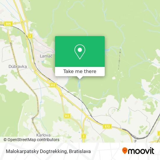 Malokarpatsky Dogtrekking mapa