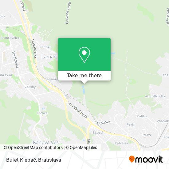Bufet Klepáč map