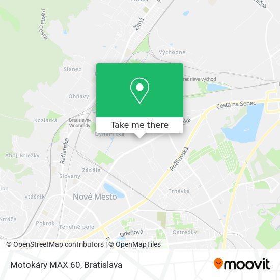 Motokáry MAX 60 map
