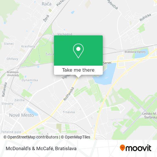 McDonald's & McCafé map