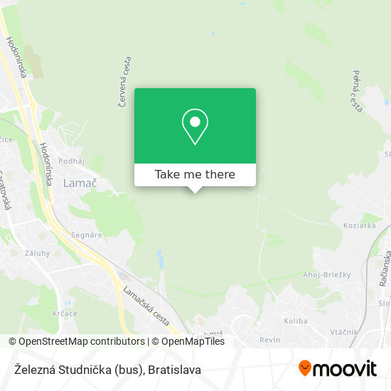 Železná Studnička (bus) mapa