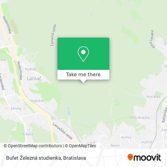 Bufet Železná studienka térkép