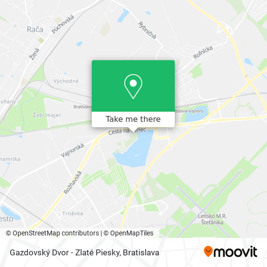 Gazdovský Dvor - Zlaté Piesky map