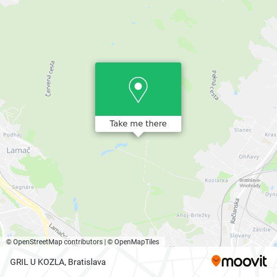 GRIL U KOZLA mapa