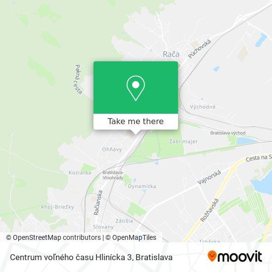 Centrum voľného času Hlinícka 3 map