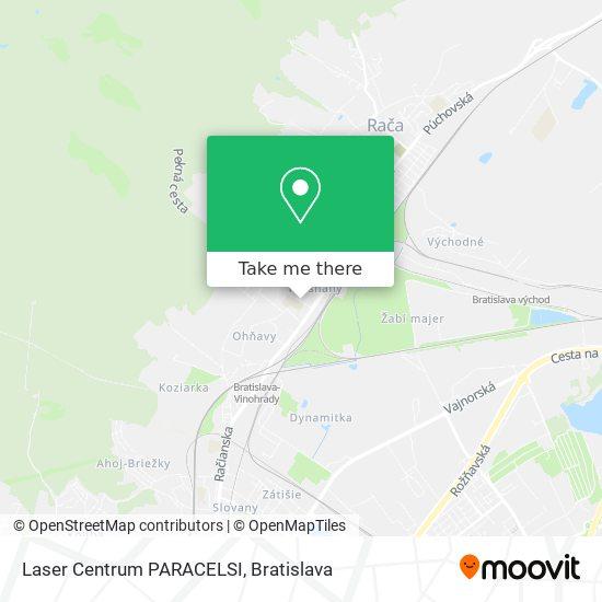 Laser Centrum PARACELSI map