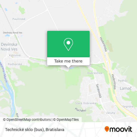 Technické sklo (bus) map