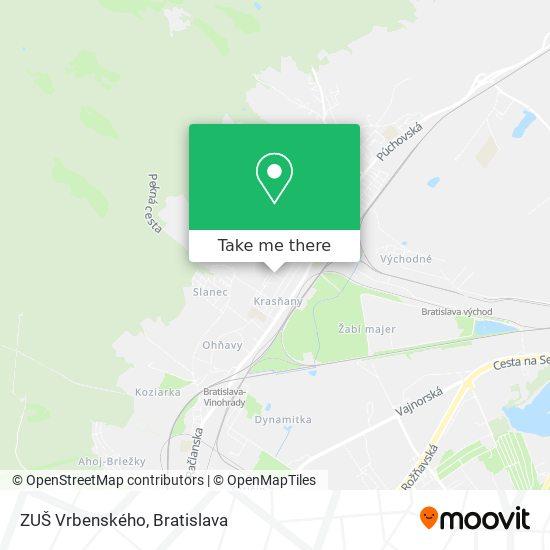 ZUŠ Vrbenského map