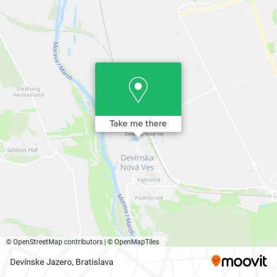 Devínske Jazero map