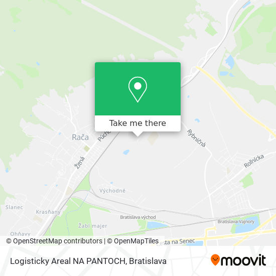 Logisticky Areal NA PANTOCH map