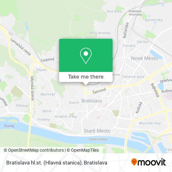 Bratislava hl.st. (Hlavná stanica) map