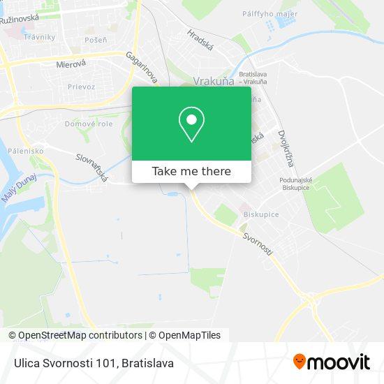 Ulica Svornosti 101 map