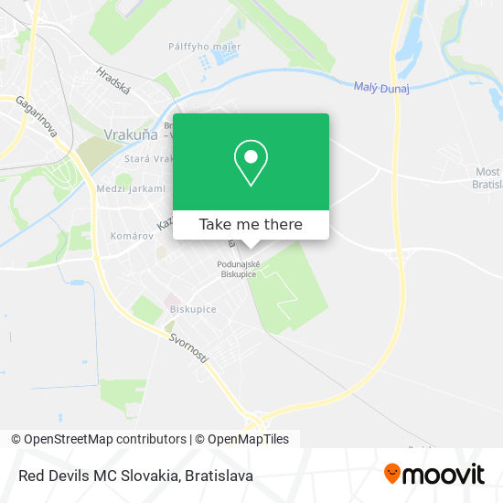 Red Devils MC Slovakia map