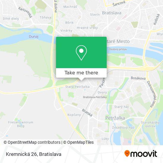 Kremnická 26 map