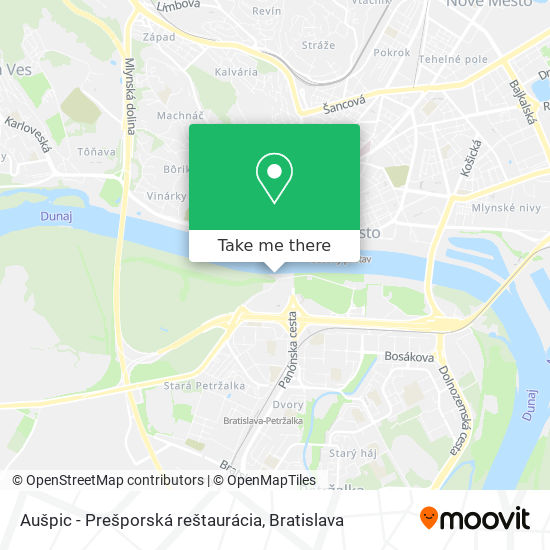 Aušpic - Prešporská reštaurácia map
