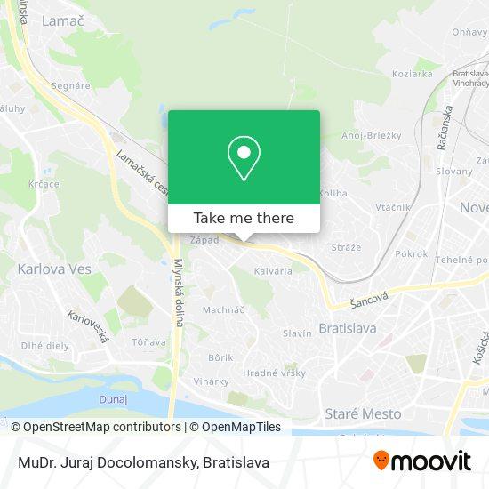 MuDr. Juraj Docolomansky map