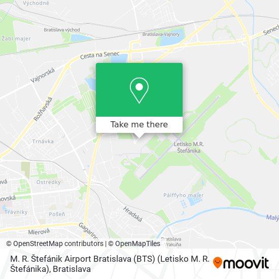M. R. Štefánik Airport Bratislava (BTS) (Letisko M. R. Štefánika) map