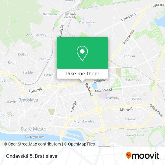 Ondavská 5 map