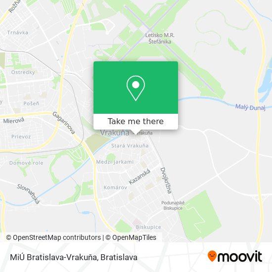 MiÚ Bratislava-Vrakuňa map