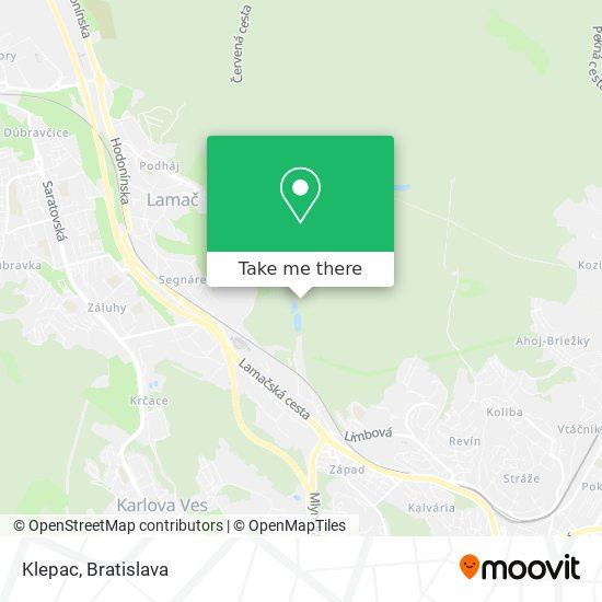 Klepac mapa