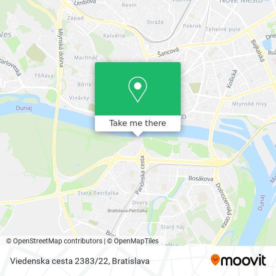 Viedenska cesta 2383/22 map