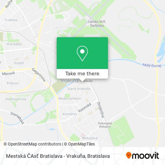 Mestská ČAsť Bratislava - Vrakuňa map