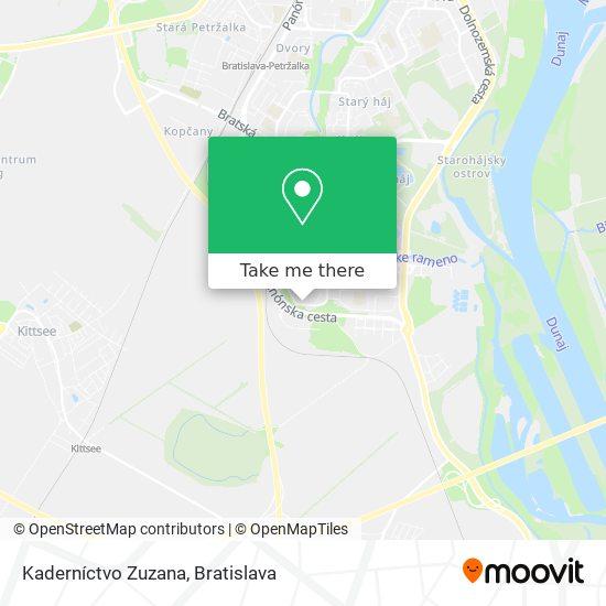 Kaderníctvo Zuzana map