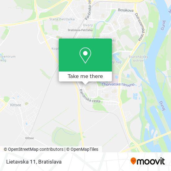 Lietavska 11 map
