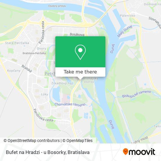 Bufet na Hradzi - u Bosorky map