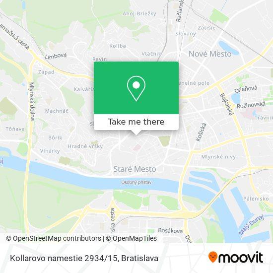 Kollarovo namestie 2934/15 map