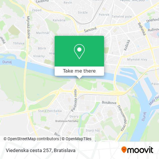 Viedenska cesta 257 map