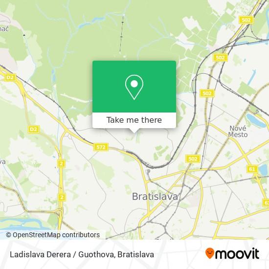 Ladislava Derera / Guothova map