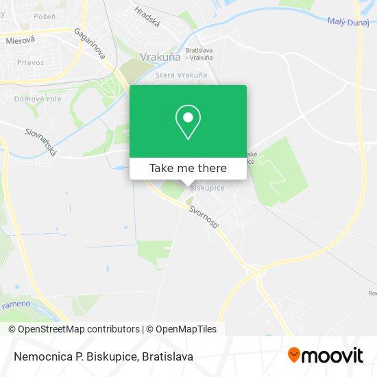 Nemocnica Podunajské Biskupice map