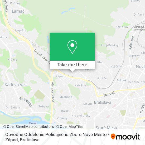 Obvodné Oddelenie Pz Nové Mesto - Západ map