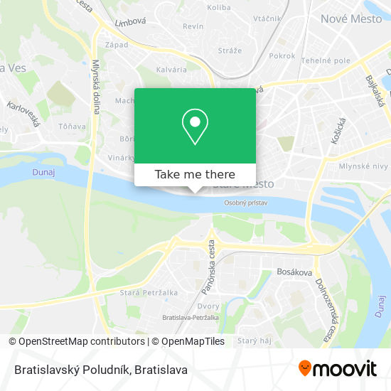 Bratislavský Poludník map