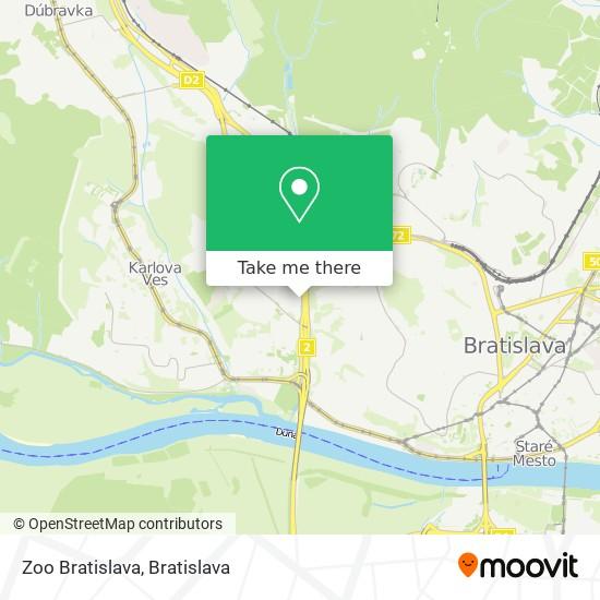 Zoo Bratislava map
