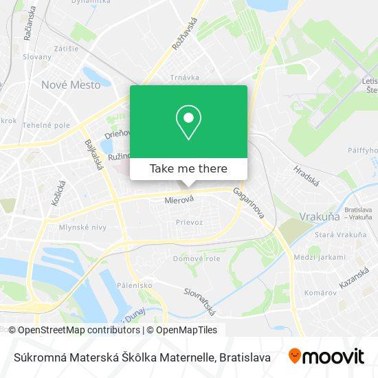 Súkromná Materská Škôlka Maternelle map