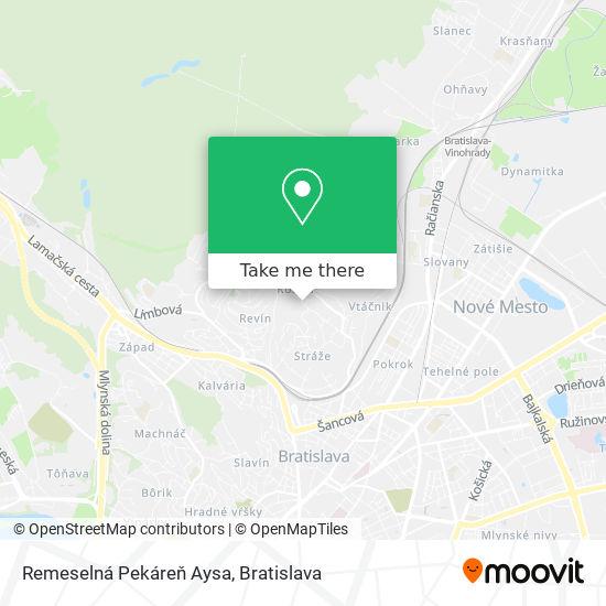 Remeselná Pekáreň Aysa map