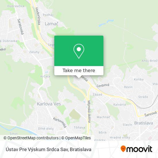 Ústav Pre Výskum Srdca Sav map