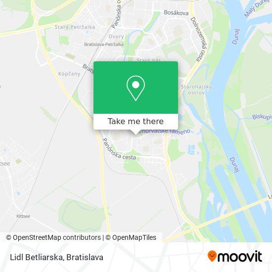 Lidl Betliarska map