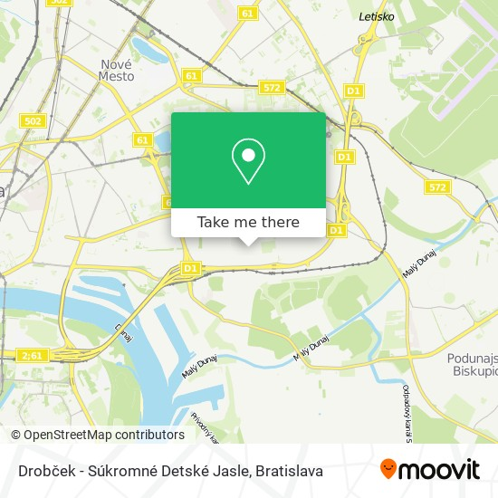 Drobček - Súkromné Detské Jasle map