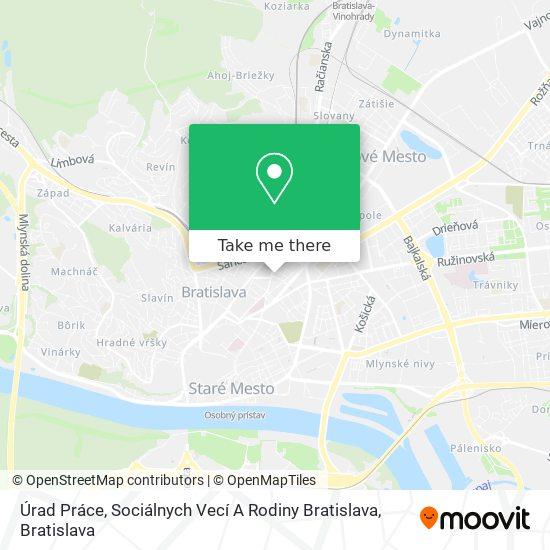 Úrad Práce, Sociálnych Vecí A Rodiny Bratislava map