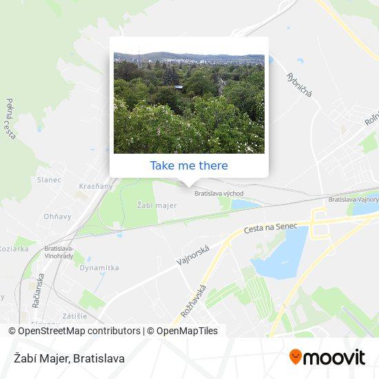 Žabí Majer map