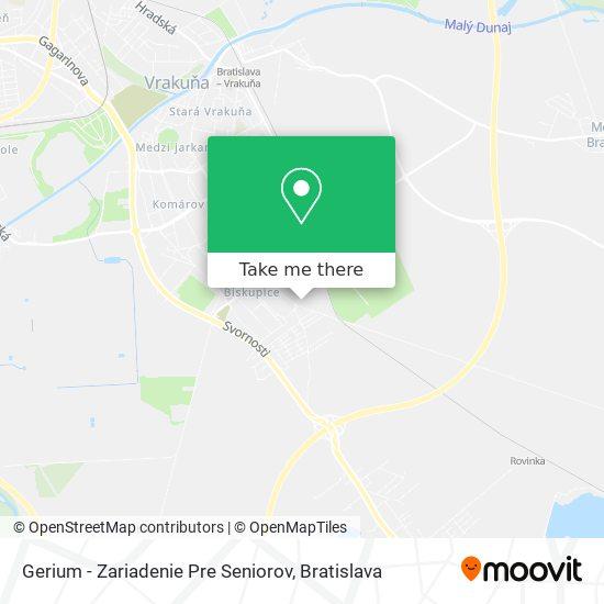 Gerium - Zariadenie Pre Seniorov map