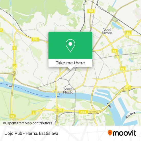 Jojo Pub - Herňa map