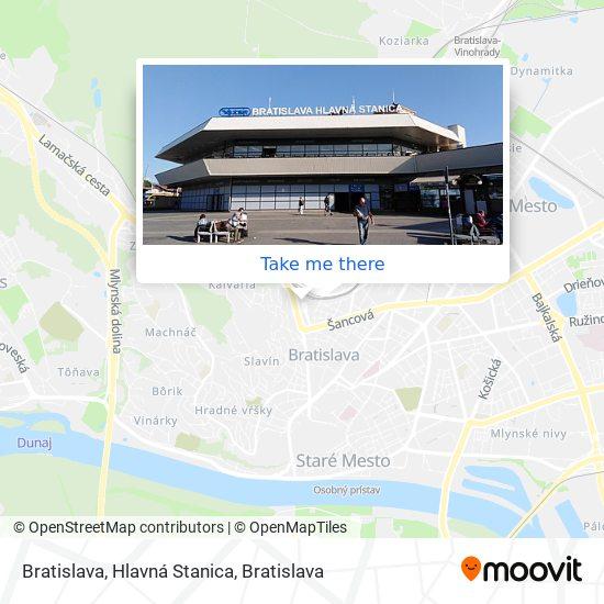 Bratislava, Hl.Stanica map