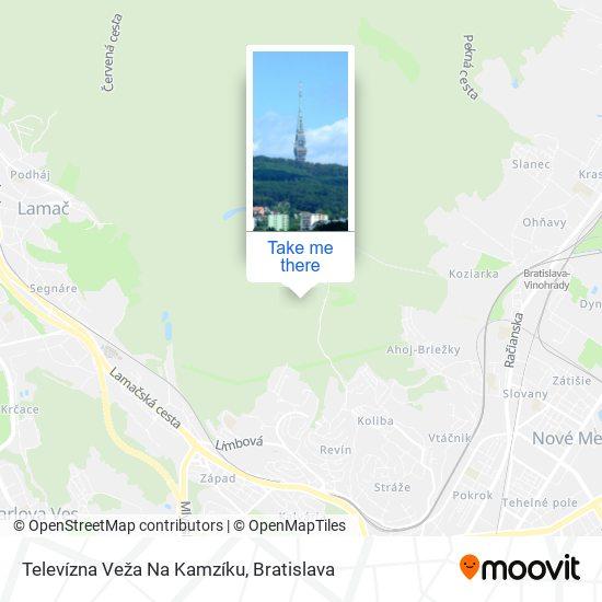 Kamzík Tv Tower mapa