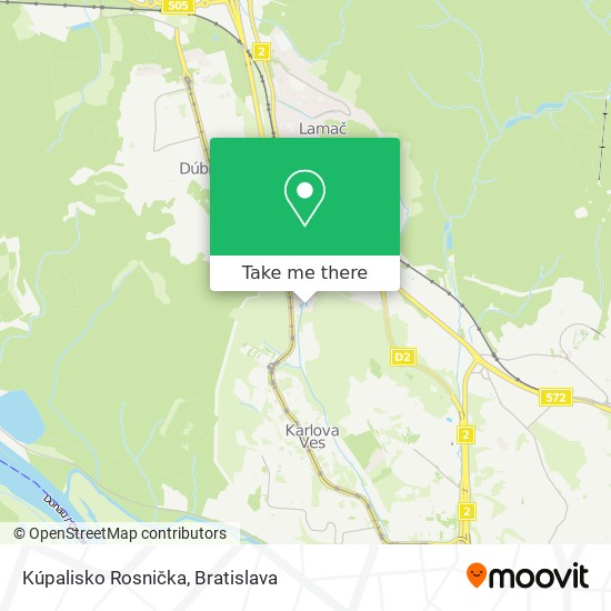 Kúpalisko Rosnička map