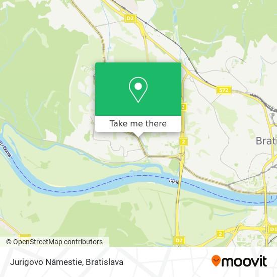 Jurigovo Námestie map