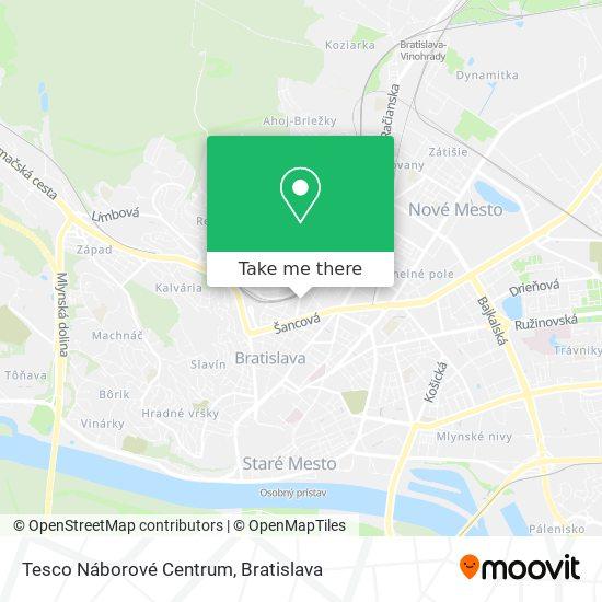 Tesco Náborové Centrum map